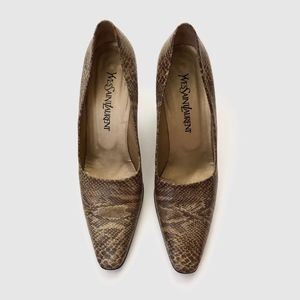 Yves Saint Laurent Python Heels